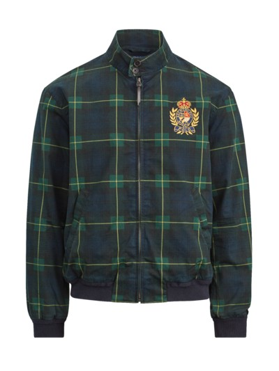 Blouson with embroidered coat of arms v BLUE