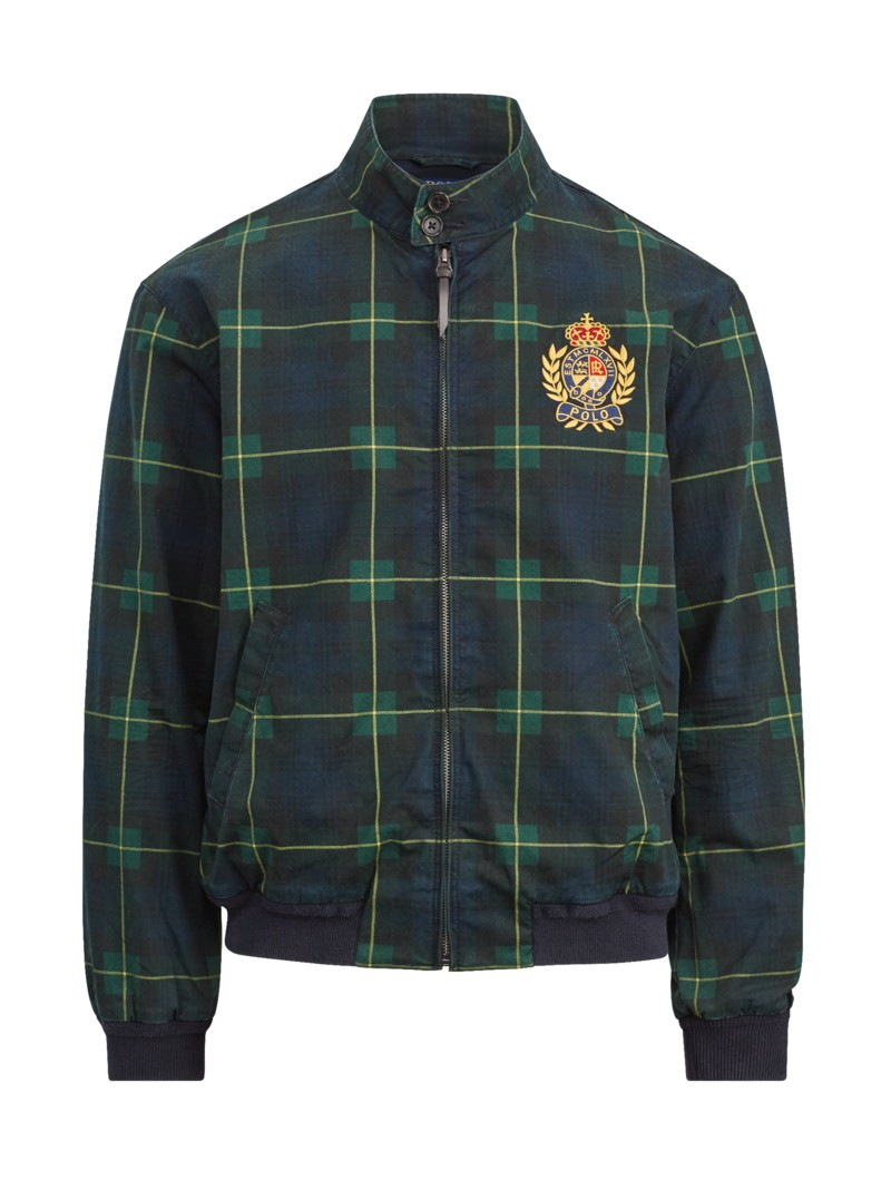 Polo Ralph Lauren Blouson with embroidered coat of arms BLUE in plus size