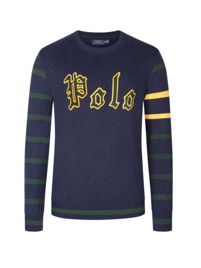 Sweater with stylish logo lettering v MARINE