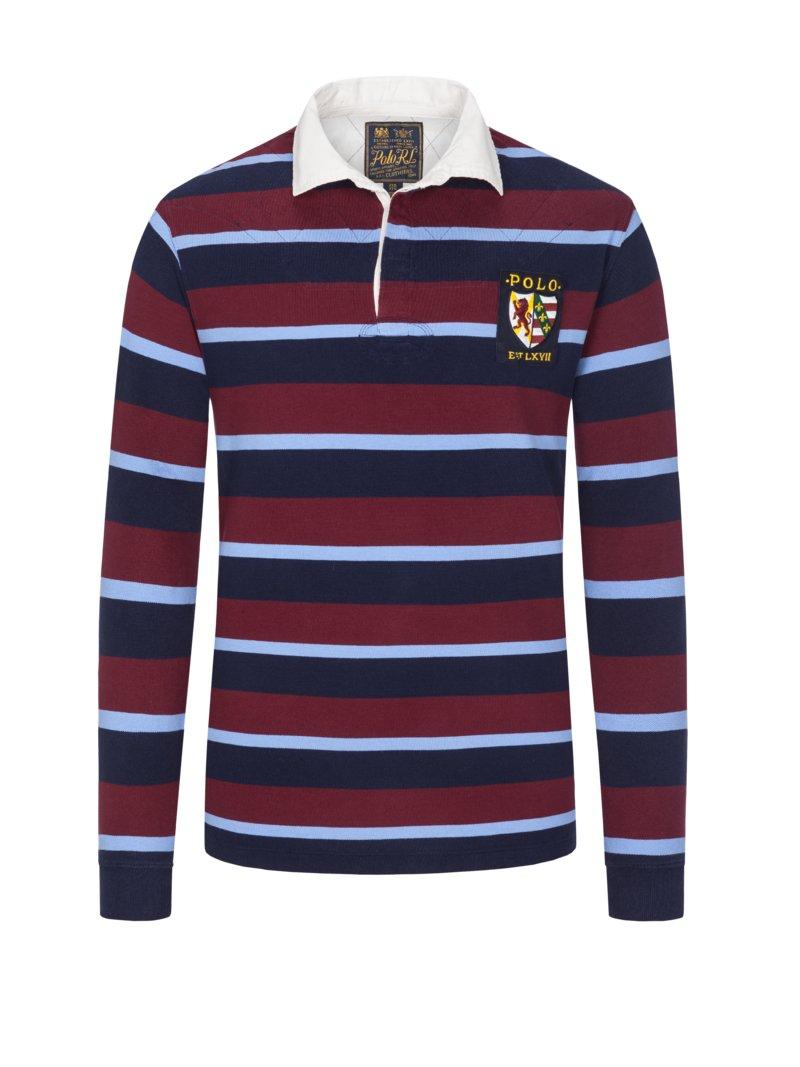 huge discount 98174 a8de6 Polo Ralph Lauren Sweatshirt mit Kontrastkragen bordeaux ...