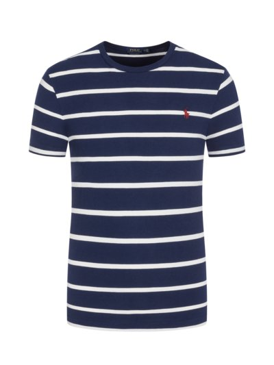 T-shirt, crew neck with striped pattern v MARINE