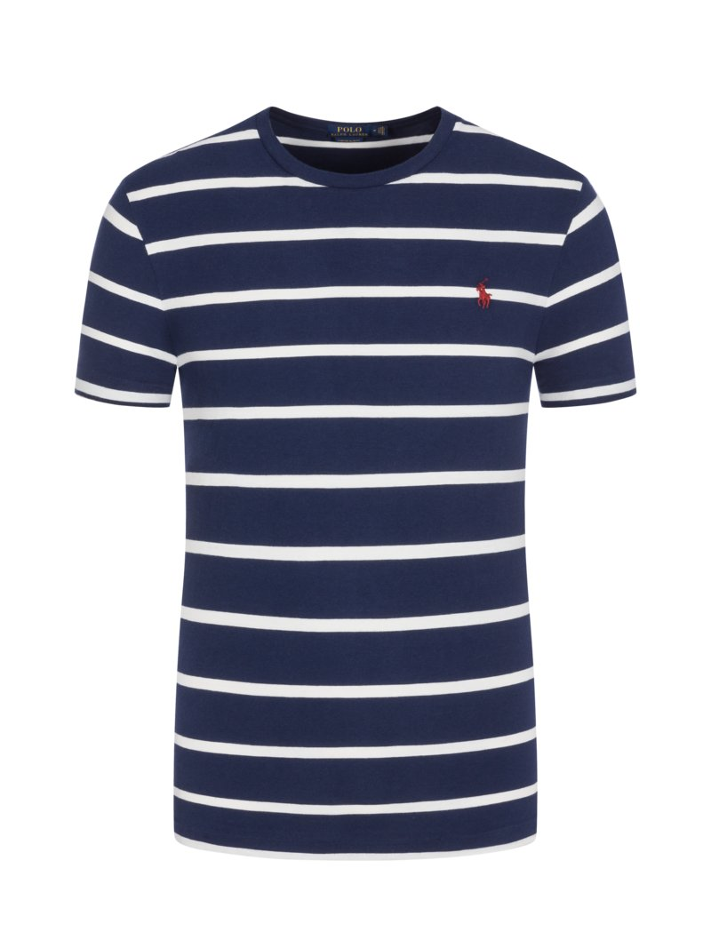 Polo Ralph Lauren T-shirt, crew neck with striped pattern BORDEAUX in plus size