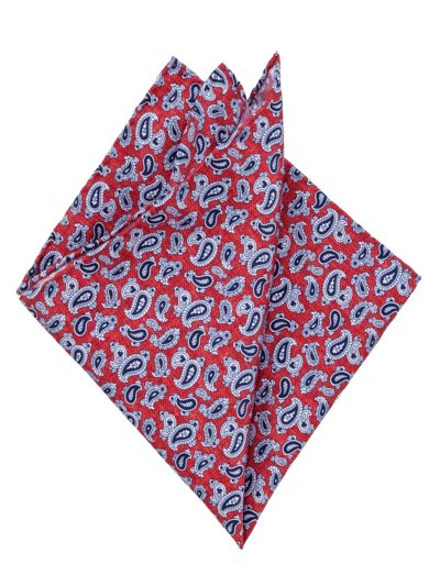 Pocket kerchief with paisley pattern v RED