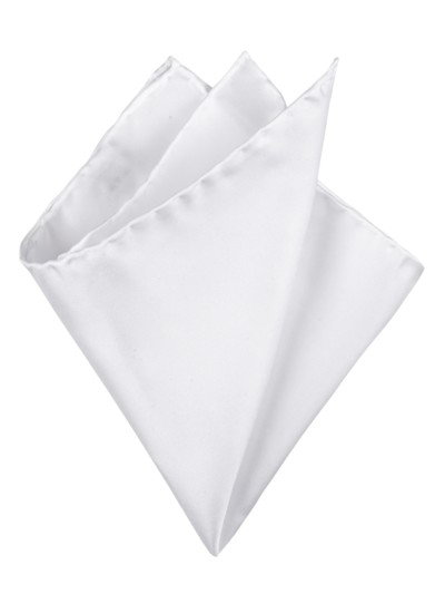 100% silk pocket kerchief v WHITE