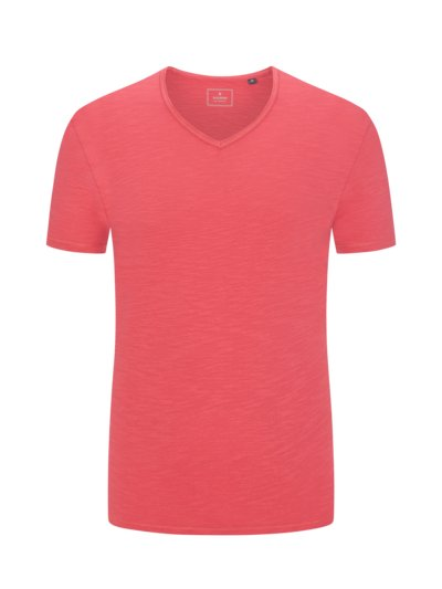 T-shirt with V-neck v RED