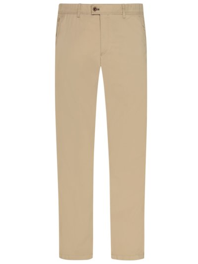 Chinos with stretch content, Regular Fit v BEIGE