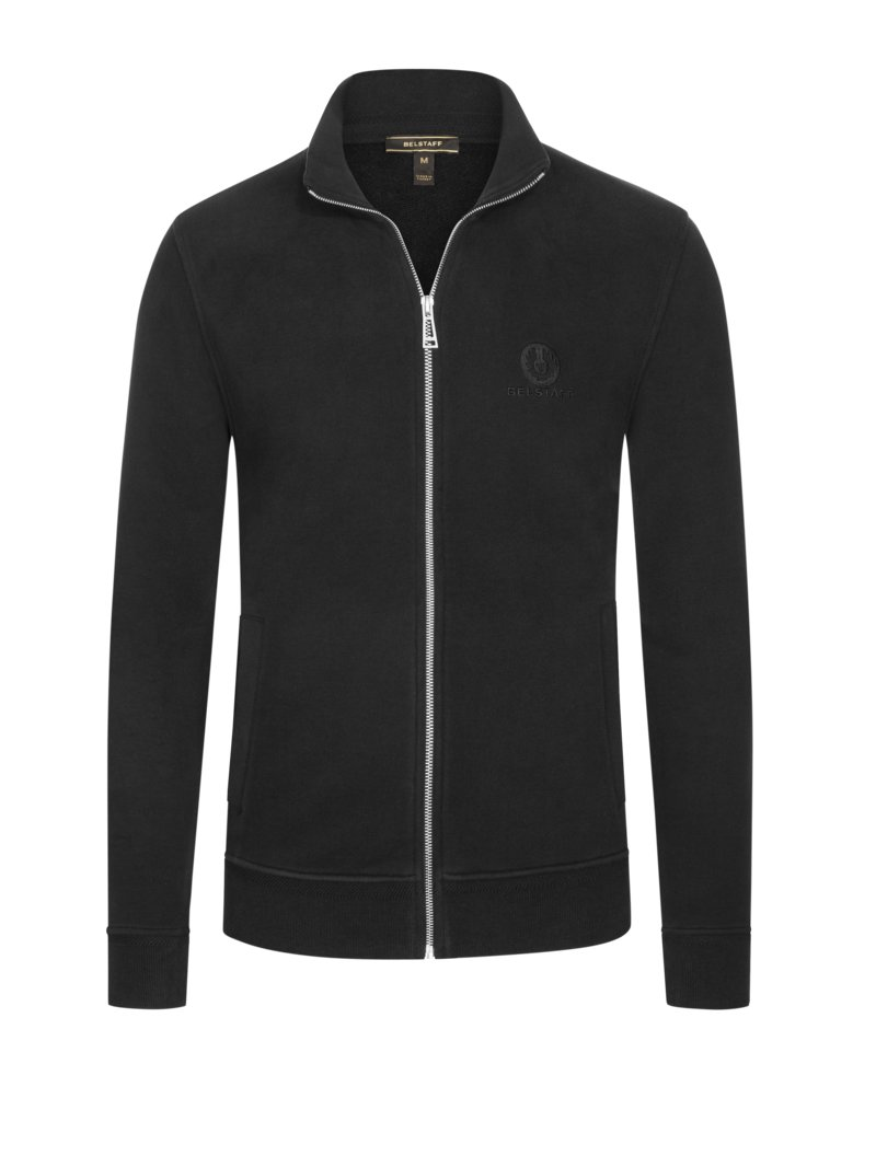 Belstaff Fashionable sweater jacket in pure cotton BLACK in plus size