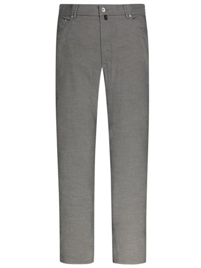Trousers with micro pattern in a wool look v GREY