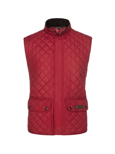Classic quilted vest v RED