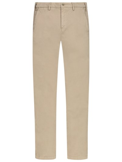 Stylish cotton chinos v BEIGE