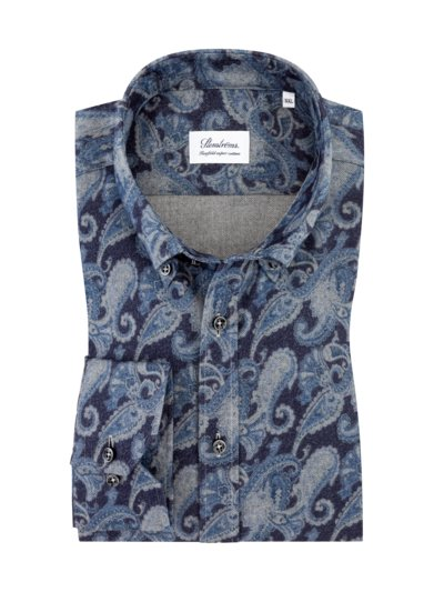 Flanellhemd im Paisley-Muster in BLAU