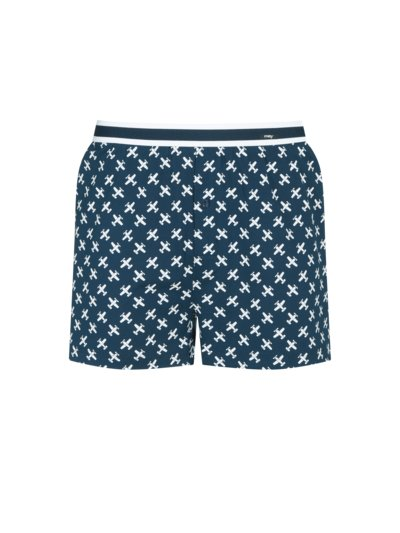 Boxer shorts with stretch content v BLUE
