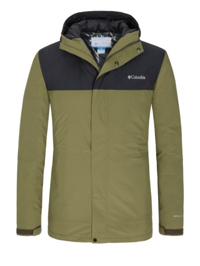 Casual jacket with Omni-Heat function v OLIVE-