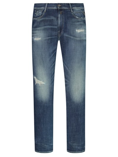 Modische Denim-Jeans mit Destroyed-Effekt in BLAU