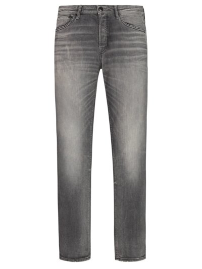 Jeans with a stylish washed effect and stretch content v GREY