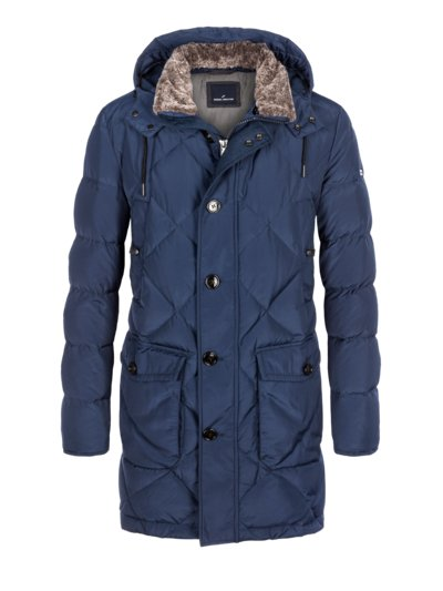 Winter parka with a trendy quilted pattern v ROYAL