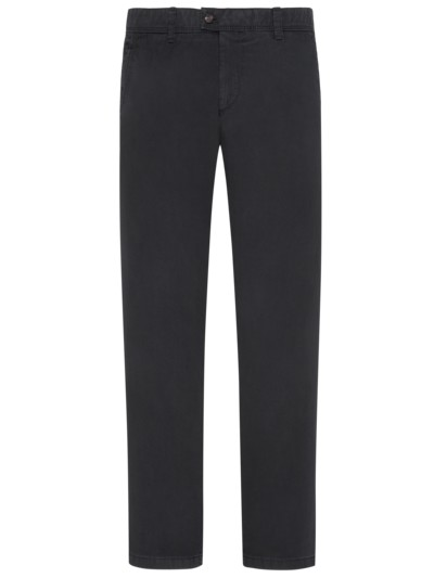 Cotton chinos with safety pocket stretch content v BLACK