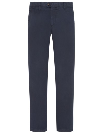 Cotton chinos with safety pocket stretch content v MARINE