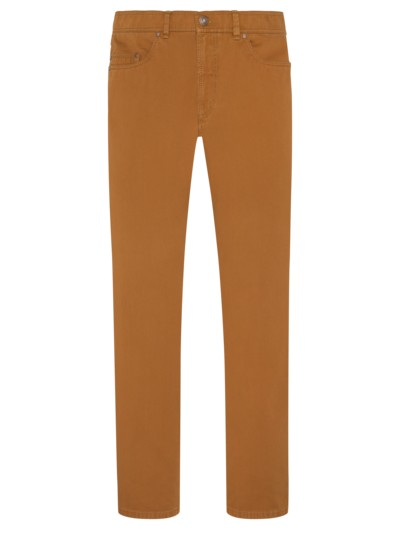 Five-pocket pants with stretch content v LIGHT BROWN
