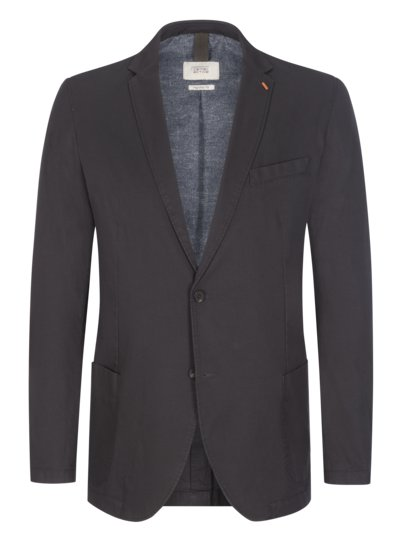 Cotton blazer with stretch content, Regular Fit v ANTHRACITE