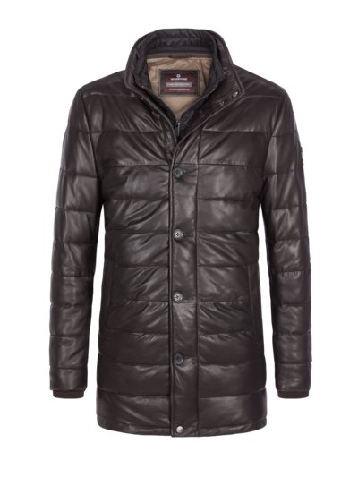 Leather jacket with removable lining, Dorino v BROWN