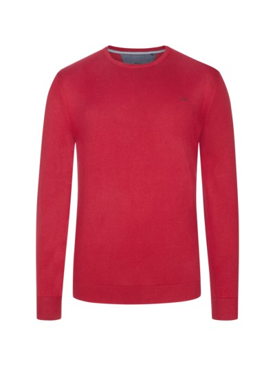 Sweater, round neck, made of pure cotton v RED