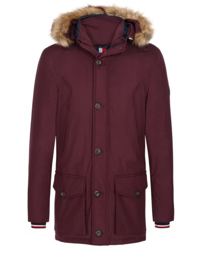 Stylish down parka v RED