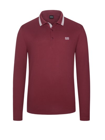 Sweatshirt mit Polokragen in BORDEAUX