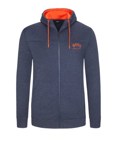 Stylish sweat jacket with contrasting details v BLUE