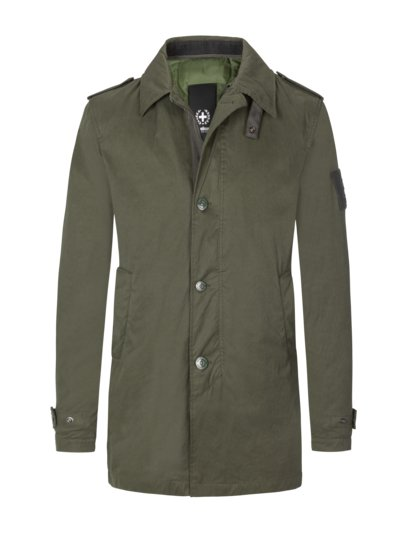 Coat in a trench coat look with removable lining v OLIVE