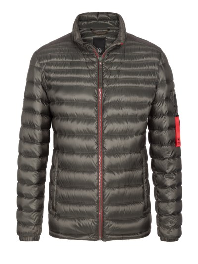 Lightweight quilted jacket with down lining v OLIVE-