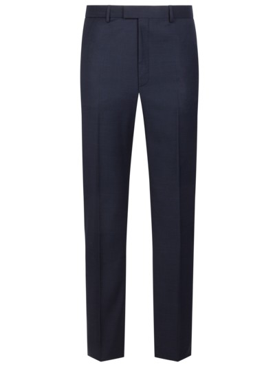 Business pants with micro pattern v MARINE