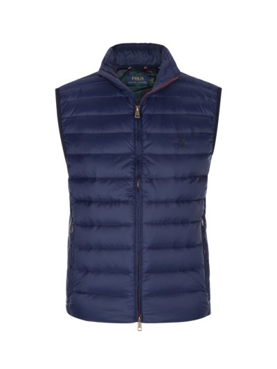 Down gilet with quilted pattern v MARINE