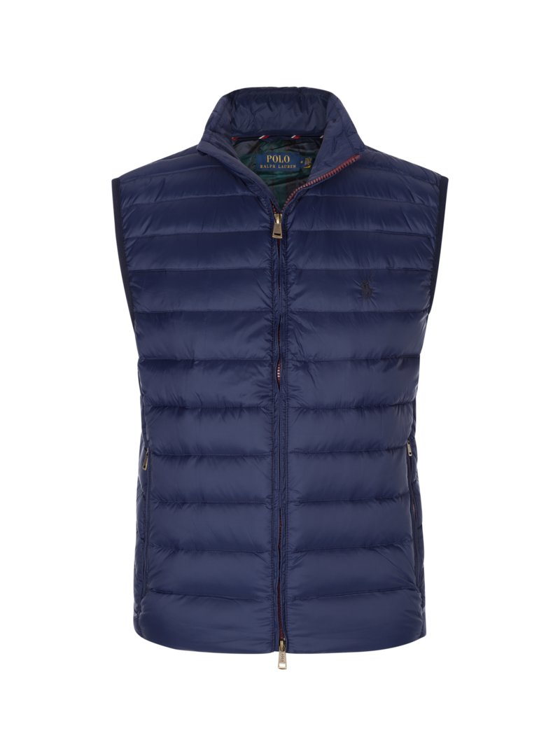 Polo Ralph Lauren Down gilet with quilted pattern MARINE in plus size