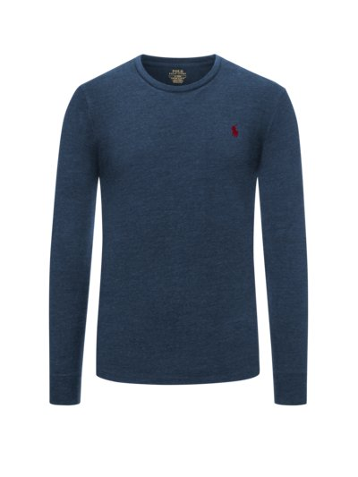 Langarmshirt, in meliertem Design in BLAU