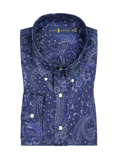 Casual shirt with large paisley print v BLUE