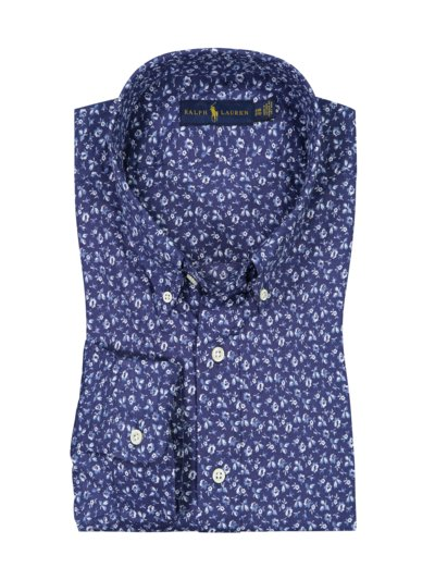 Casual shirt in floral print v BLUE