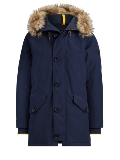 Stylish parka with faux fur trim v MARINE