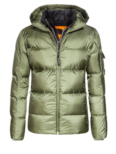 Ski jacket with an integrated yoke, Simon-D v OLIVE-