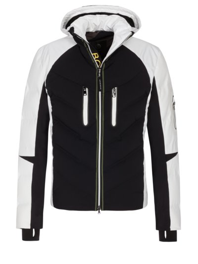 Stylish ski jacket with colour block design v BLACK