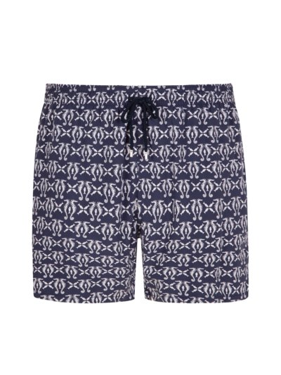 Swimming trunks with micro pattern v MARINE