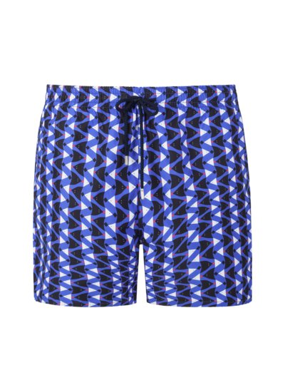 Badehose mit Fisch-Print in ROYAL