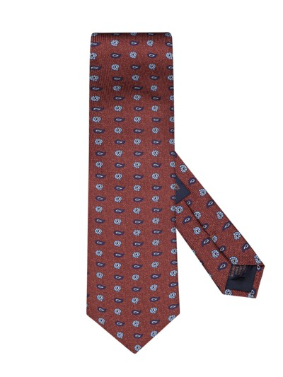 100% silk tie v ORANGE