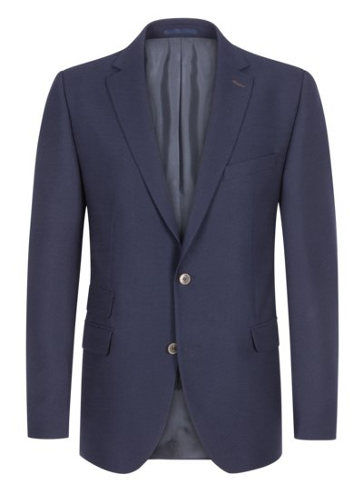 Textured blazer with patch v MARINE