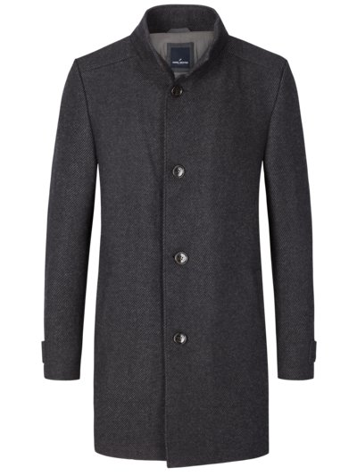 Wool coat v ANTHRACITE