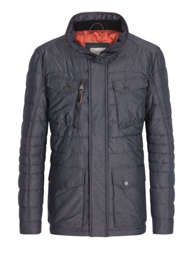 Modische Steppjacke im Fieldjacket-Look in GRAU