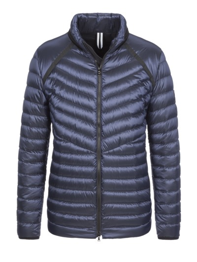 Lightweight down jacket, stylishly quilted v BLUE