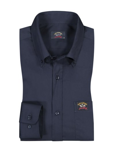 Casual shirt with sporty flag patches v MARINE