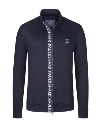 Sweatjacket with logo lettering v MARINE