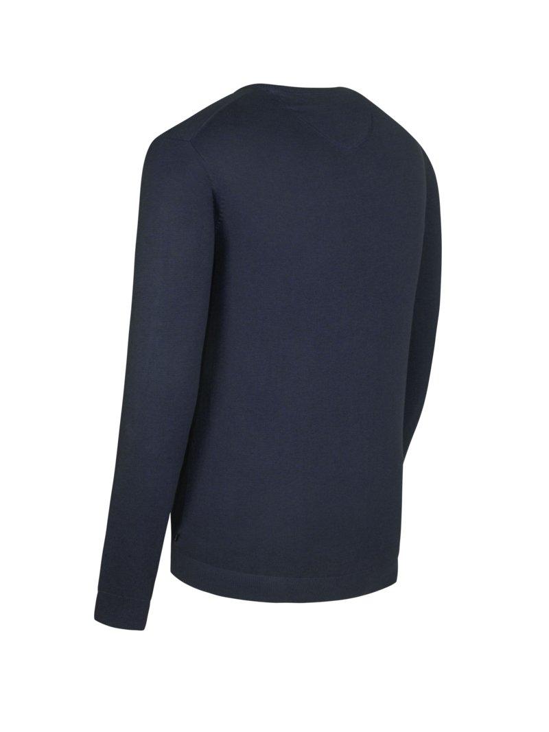 Fynch Hatton Pullover, V Neck, in 3 Ply Cotton, marine